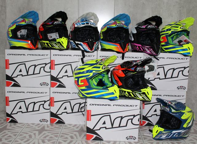Te mostramos los cascos que Airoh lleva al Campeonato Argentino de Motocross