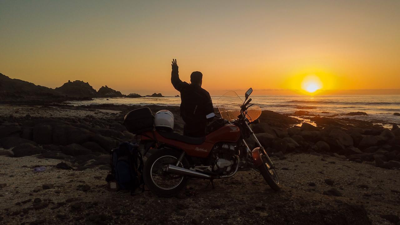 Un viaje en moto que comenzó en Córdoba y terminó en Perú